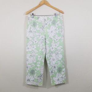 LOFT Ann Taylor Floral Petite Capri Pants Size 6P